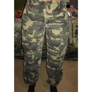 fa30f59e2f16c Fashion Nova Pants - Cadet Kim Oversized Camo Pants - Camo